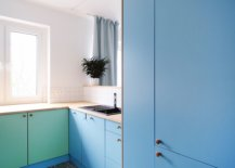 Blue-and-sea-green-cabinets-add-color-to-the-adaptable-kitchen-of-the-apartment-in-white-57557-217x155
