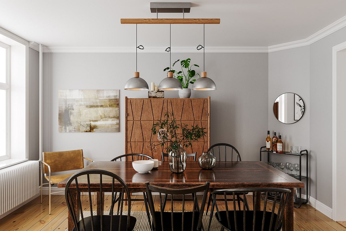 Brilliant blend of Scandinavian and minimal styles with natural greenery thrown into the mix