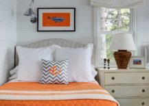Creative-use-of-orange-accents-in-the-modern-coastal-bedroom-with-a-white-backdrop-38388-217x155