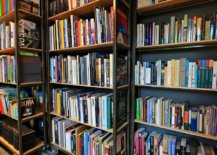 Custom-wooden-bookshelves-on-wheels-can-be-moved-around-when-needed-59182-217x155