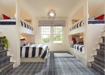 Dashing-bedroom-with-bunk-beds-uses-a-plaid-carpet-that-instantly-grabs-your-attention-19276-217x155