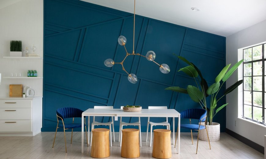 Refined Minimal Dining Rooms with a Vivacious Splash of Color