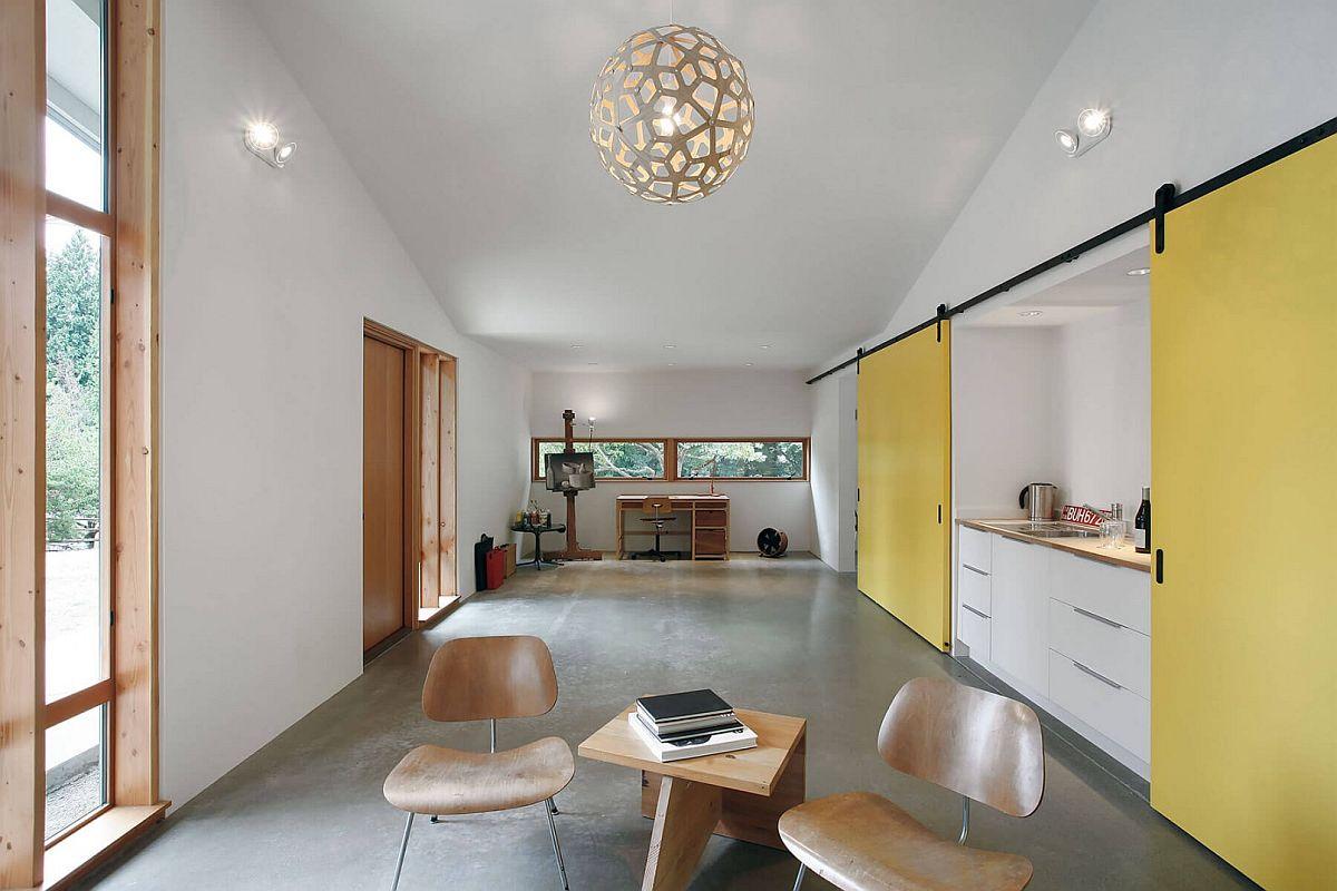 David Trubridge Coral Pendant Light illuminates the large studio space elegantly
