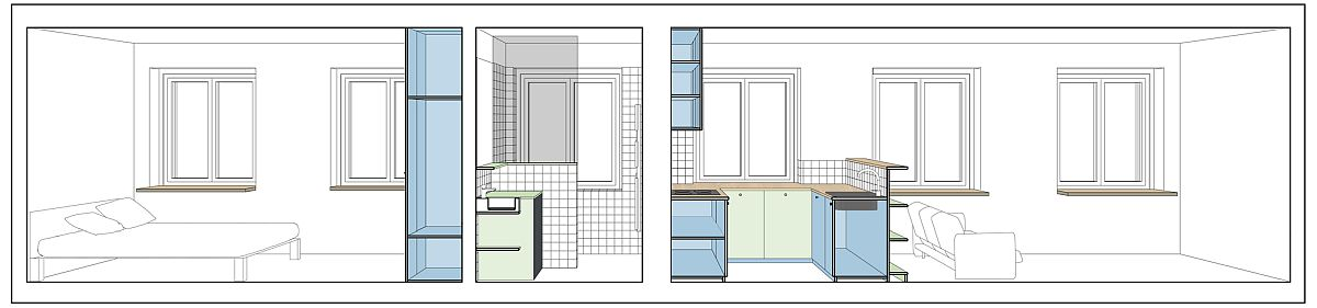Design plan of Refurbished apartment from the 50s in Poznan