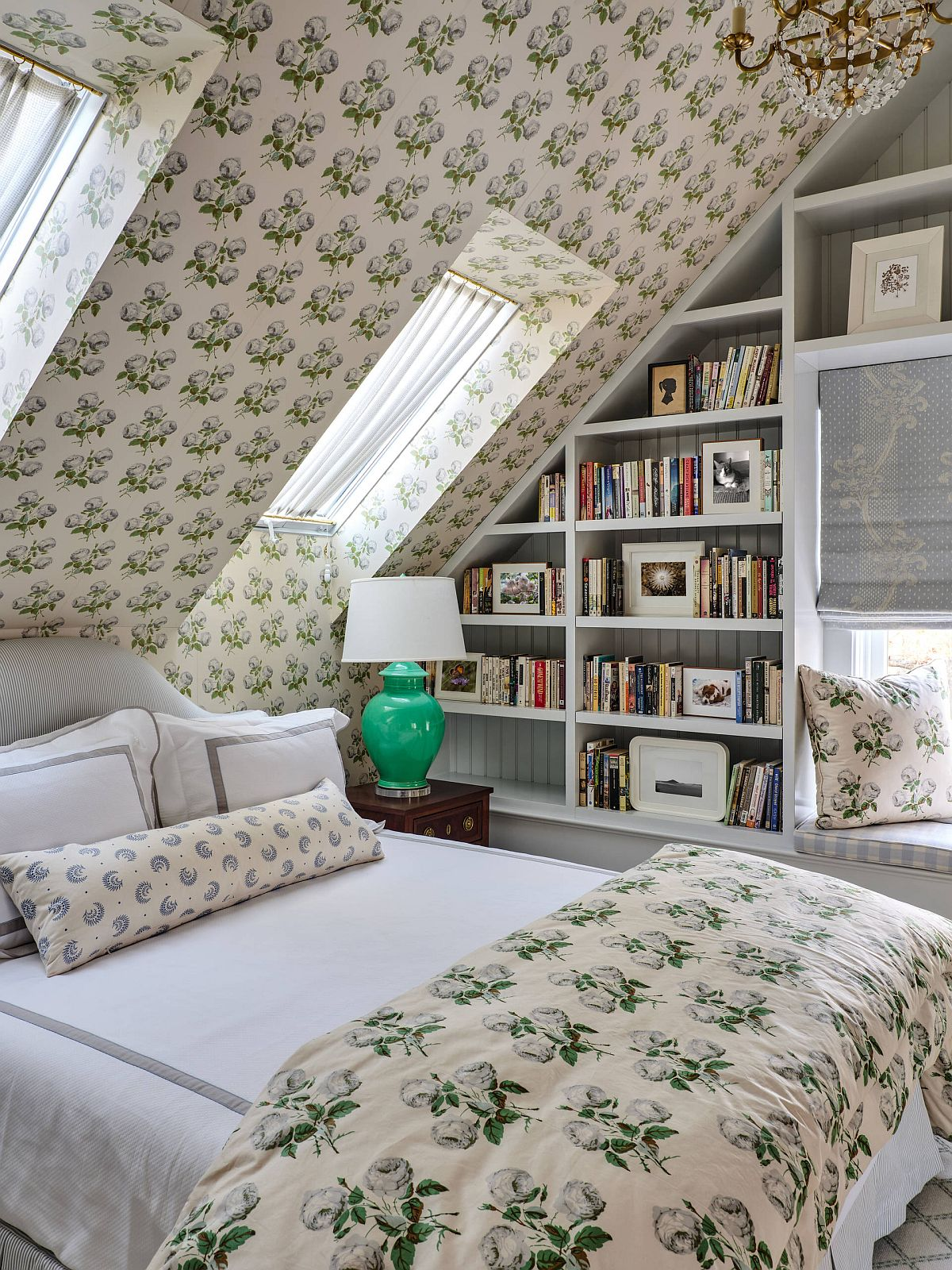Find space for the tranquil reading nook in the tiniest of bedrooms