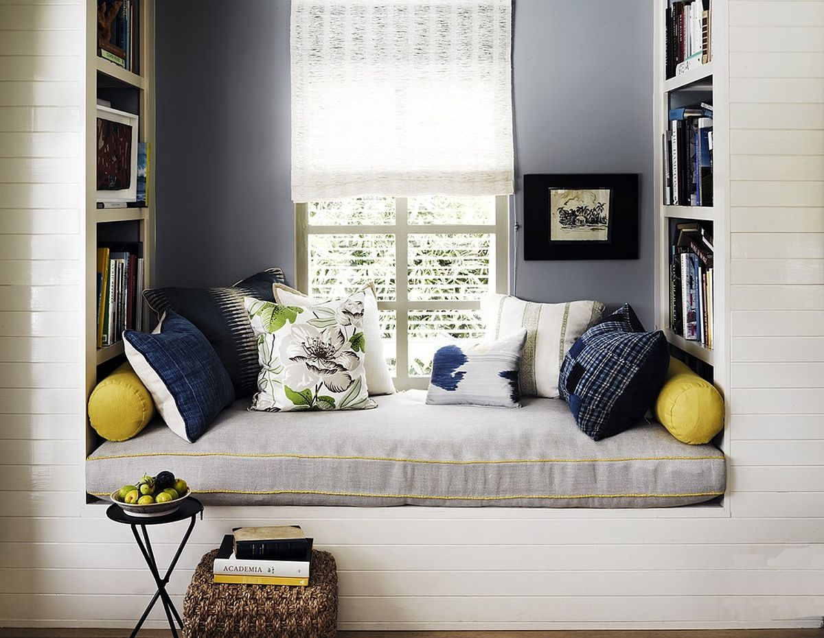 Let the window seat and reading nook in the bedroom reflect the style of the bedroom