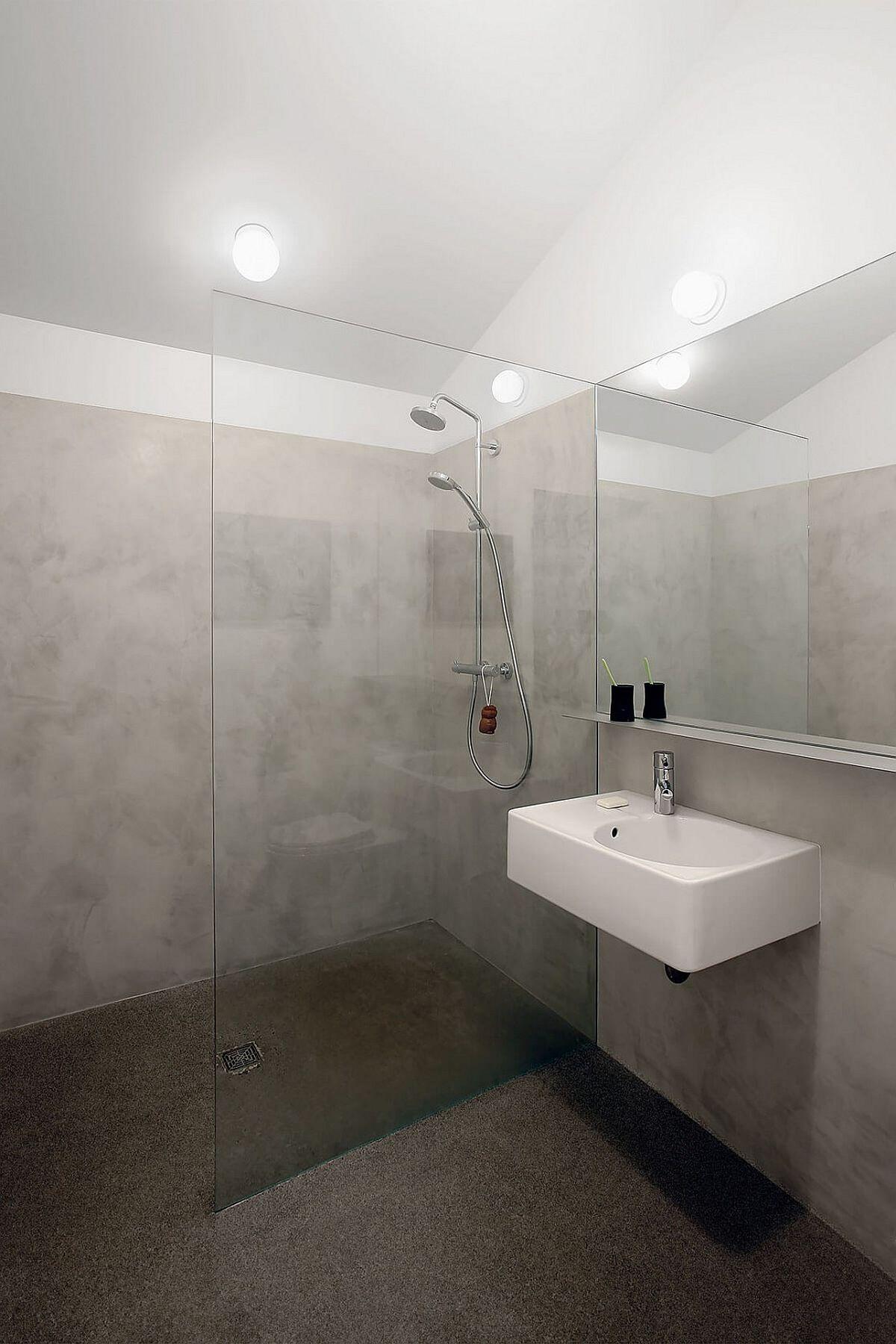 Modern minimal bathroom of the studio and ADU in Washington