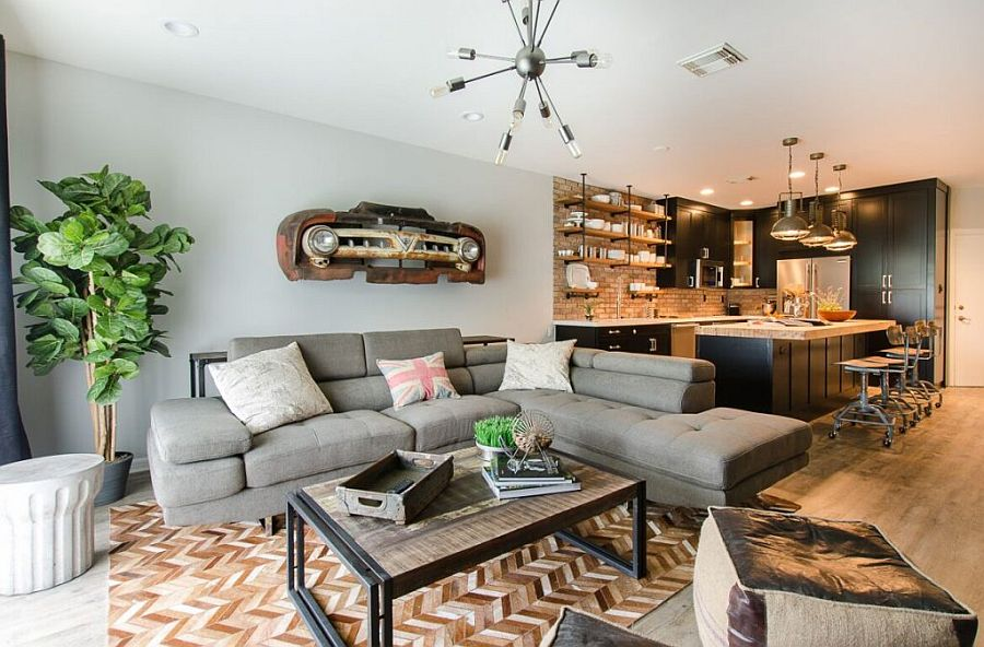 Space-Conscious Modern Industrial Home in Florida for a Globetrotting Brit