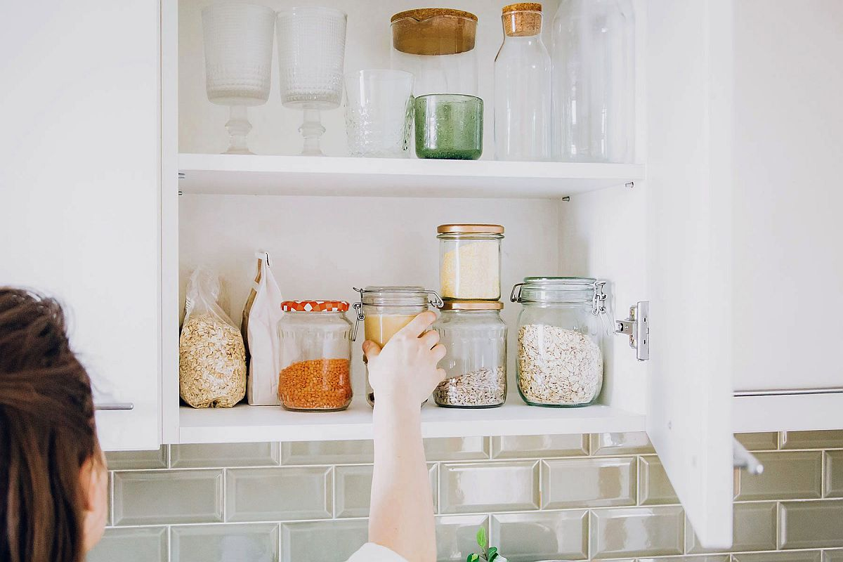 Organized and clean kitchen cabinets make for a healthier kitchen