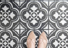Painted-ceramic-floor-tile-in-black-and-white-50930-217x155