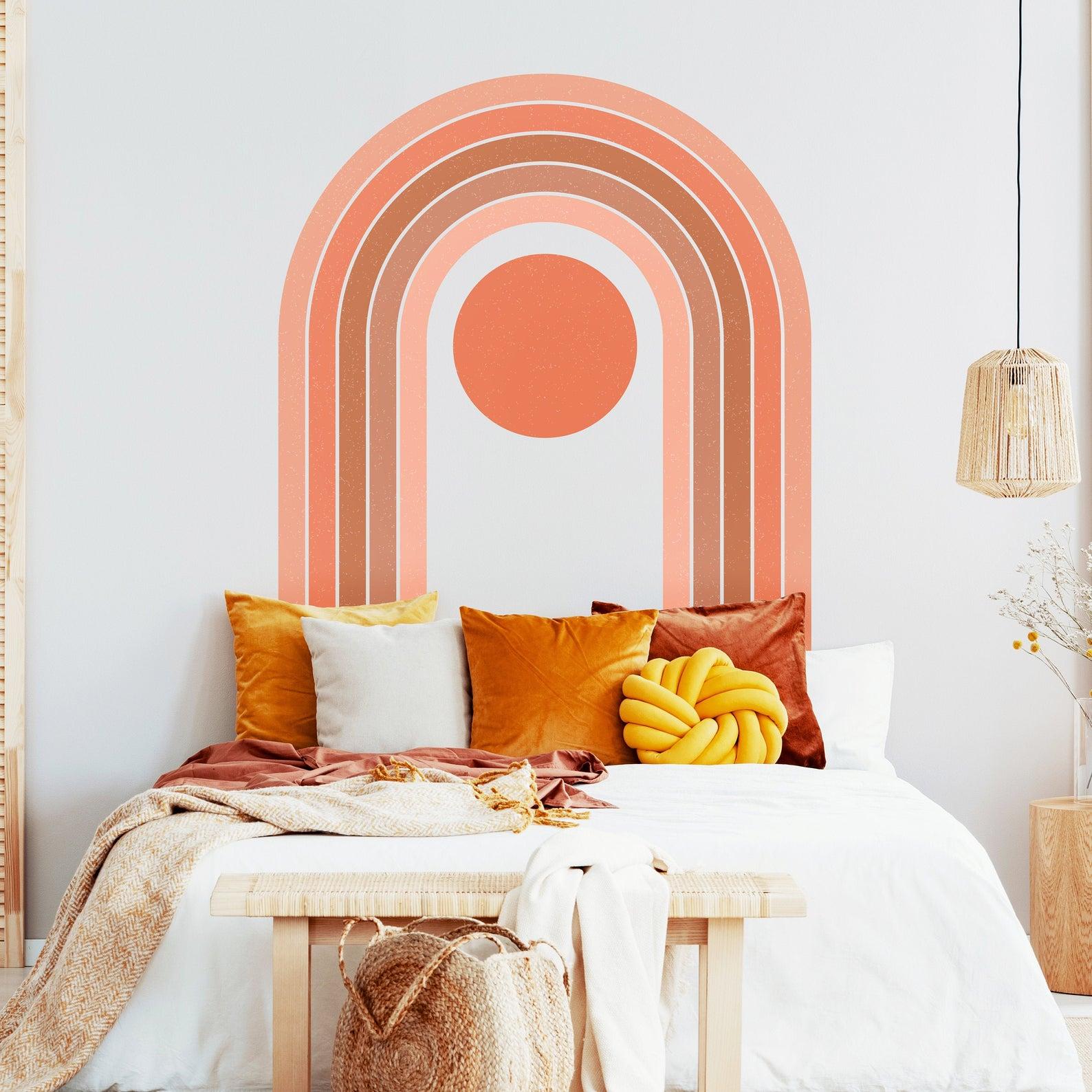 Rainbow-wall-sticker-headboard-idea-49097
