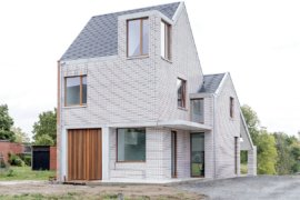 Compact Urban Design: Modern Classic Belgium House in White Brick