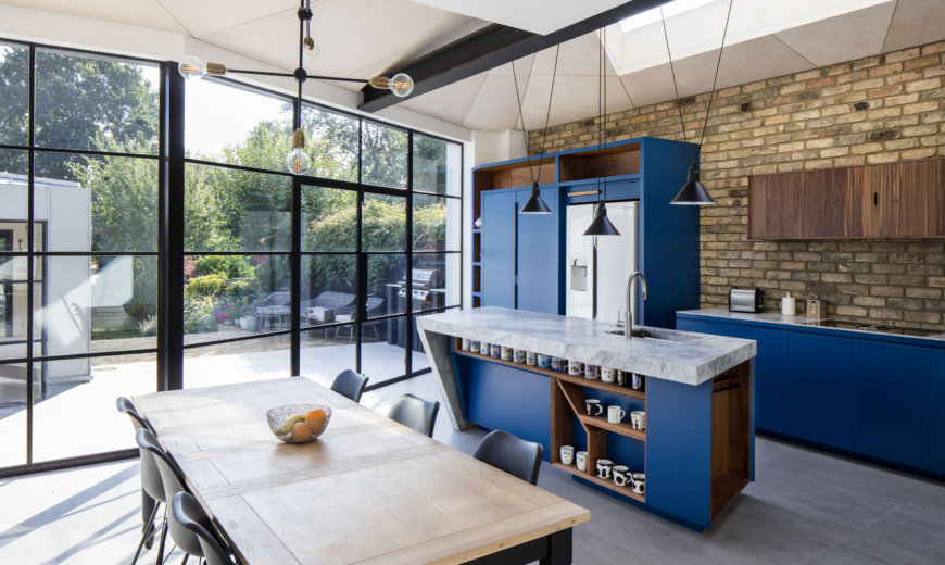Bright Modern Extension and Garden Room of Victorian Family Home in London