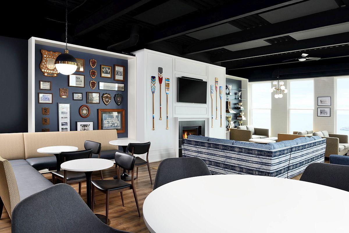 Revamped exclusive member's lounge of Balmy Beach Club on Toronto's Boardwalk