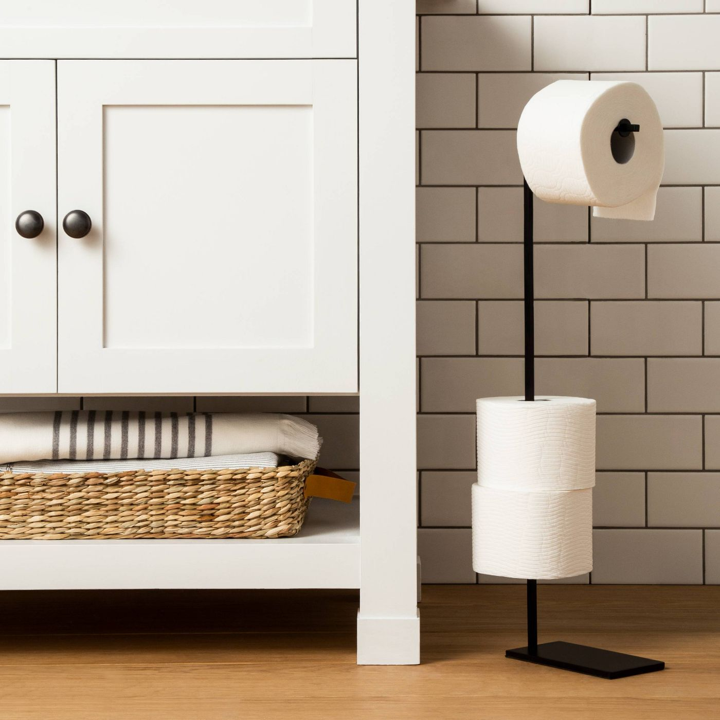 Standing toilet paper holder from Target