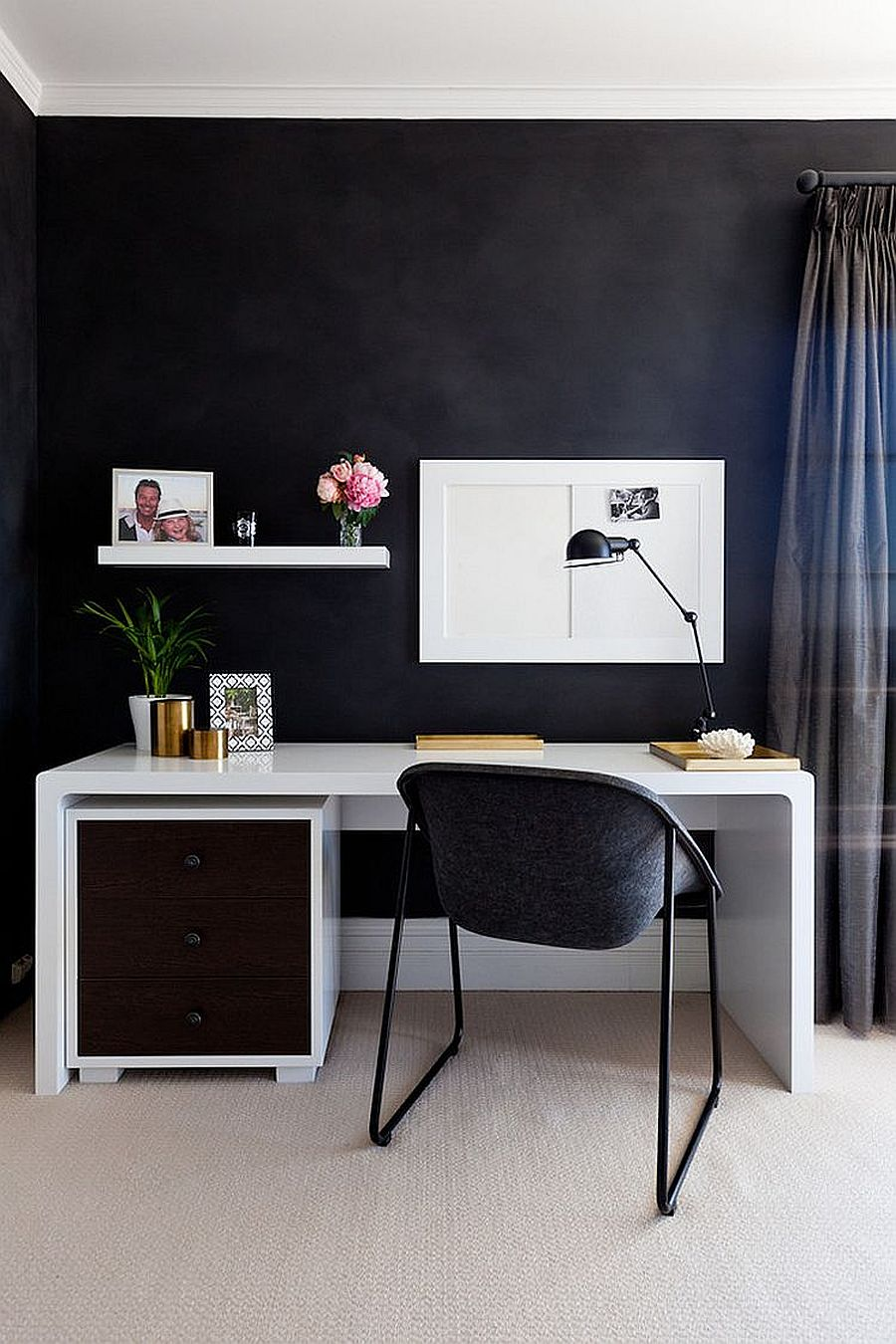 Dark And Sophisticated Black Home Office Ideas You Will Love