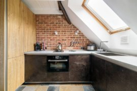 Spatial and Textural Delights: 20 Small Industrial Kitchens with Exposed Brick Finishes
