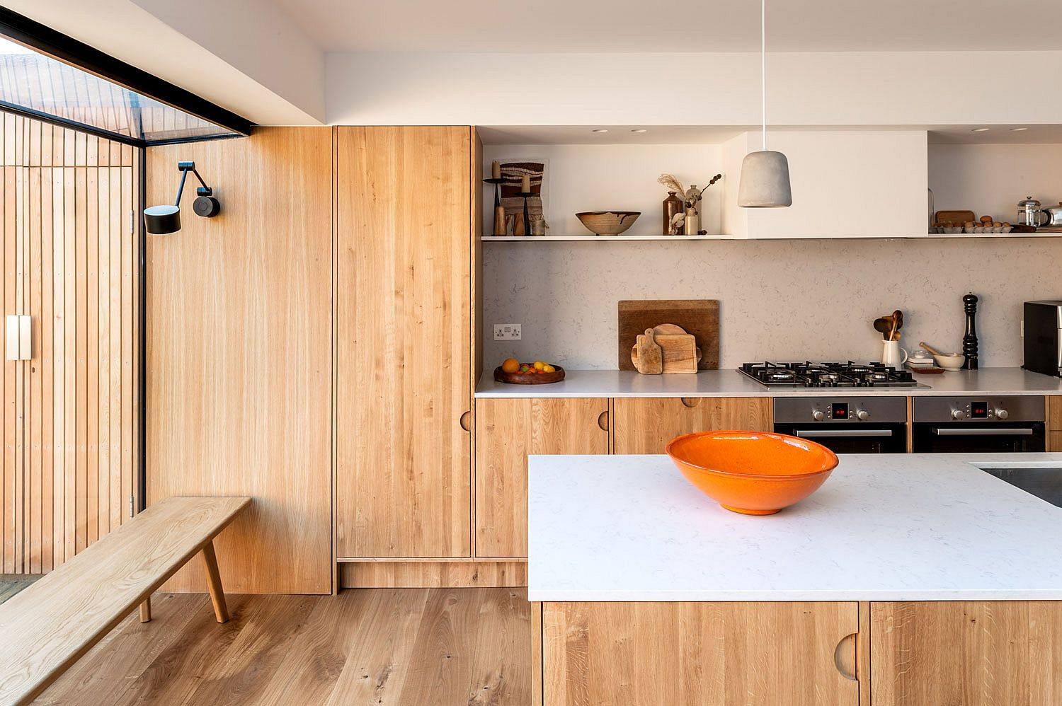 White and wood kitchen palette is quickly becoming a modern favorite that you just cannot miss
