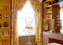 Yellow-drapes-and-shelves-bring-color-to-this-classic-eclectic-walk-in-closet-with-ample-natural-light-33378-217x155