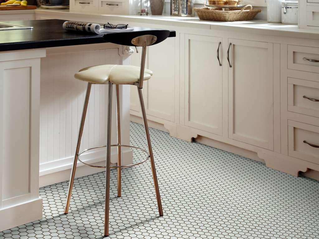 small hexagonal kitchen tile