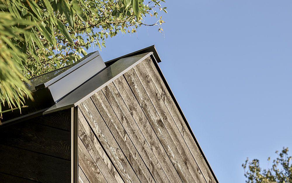 Beautiful timber siding and skylight of the backyard music shed