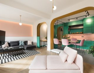 Vibrant, Fun and Inspired by the 60's: Luscious Apartment in Greece