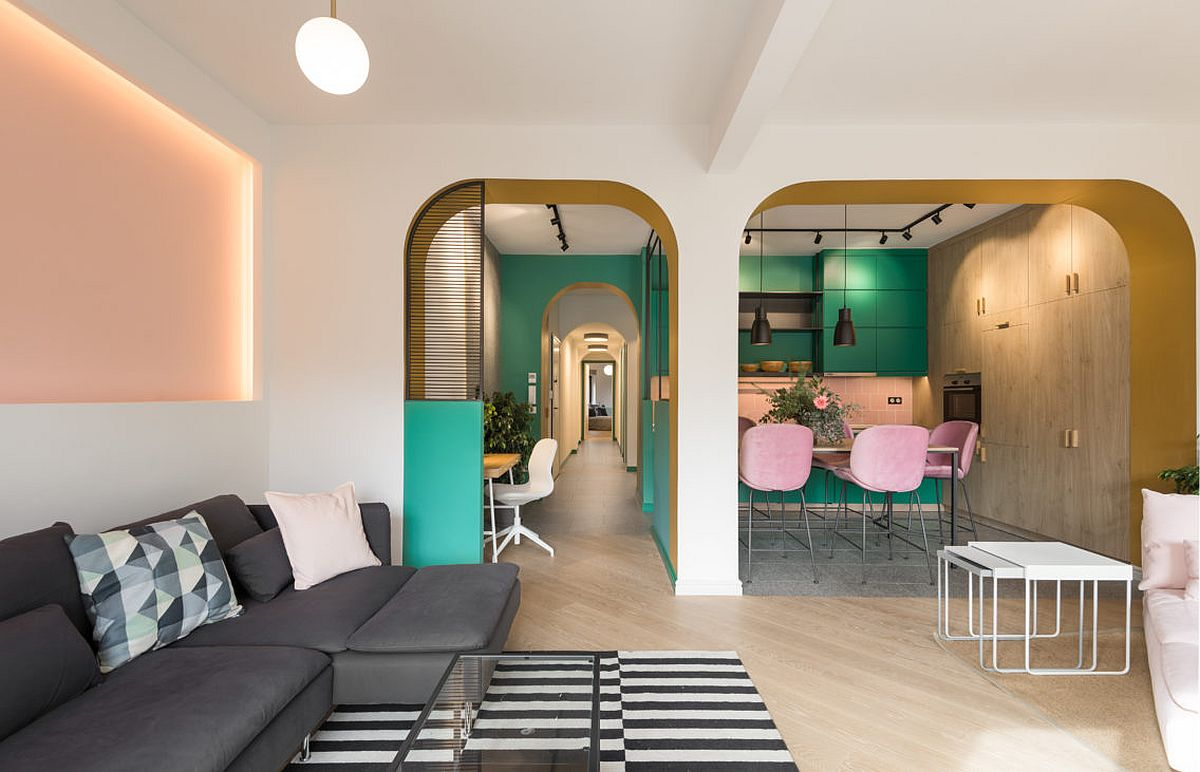 Colorful and unique Luscious Apartment in Greece is inspired by the spirit of the 60's