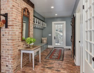 A Bit of Brick for the Entryway: From Beautiful Walls to Lasting Floors!