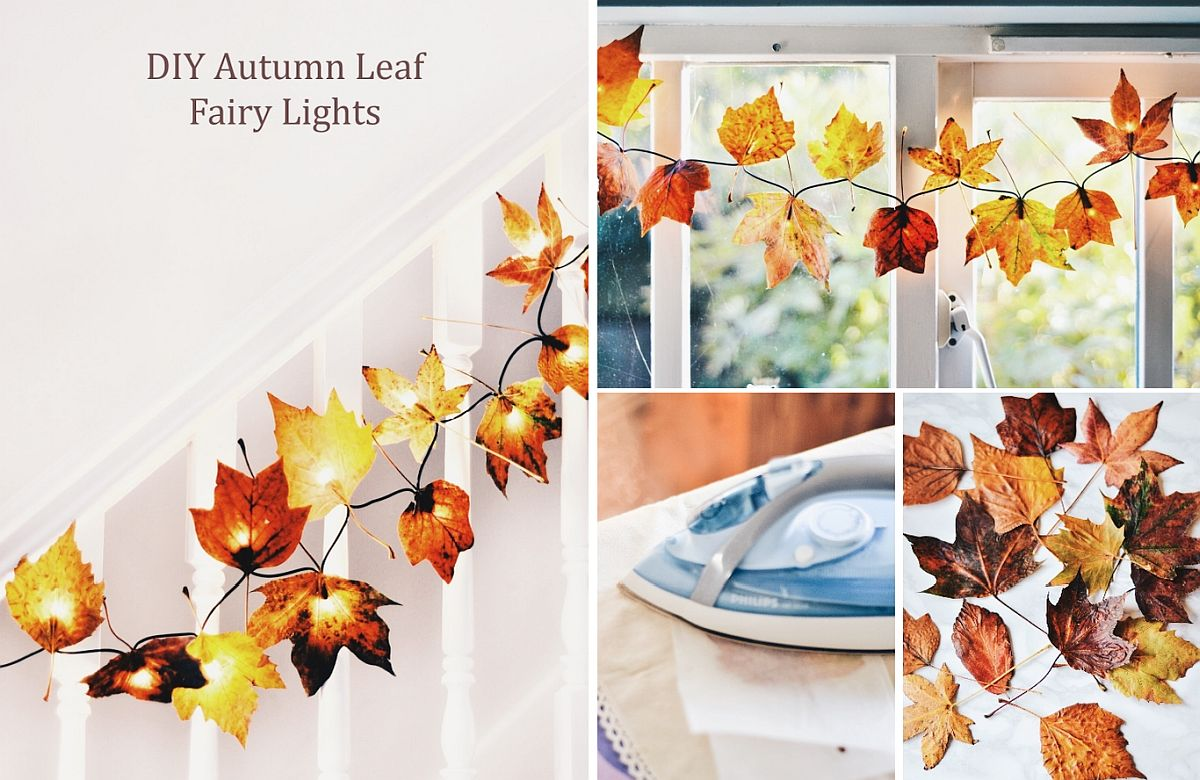 Cozy fall leaf lights bring elegance and warmth to the interior