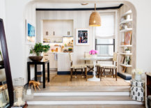 Fabulous-small-kitchen-and-dining-room-of-apartment-in-Chelsea-with-white-holding-fort-94432-217x155