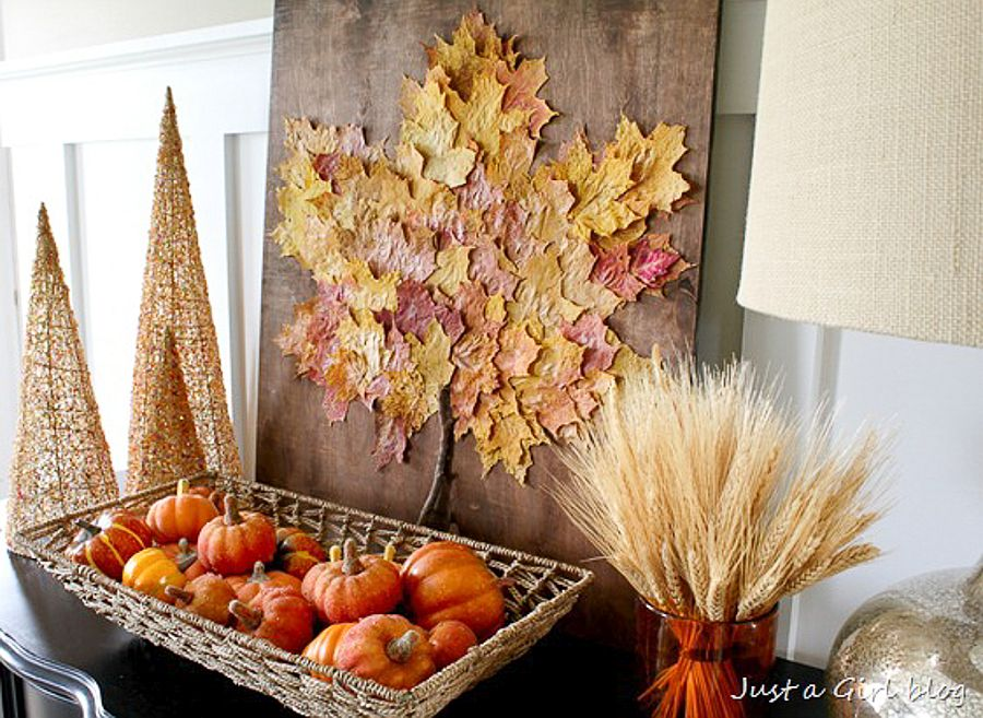 Fall leaf art piece is perfect for the season as you welcome home friends and family