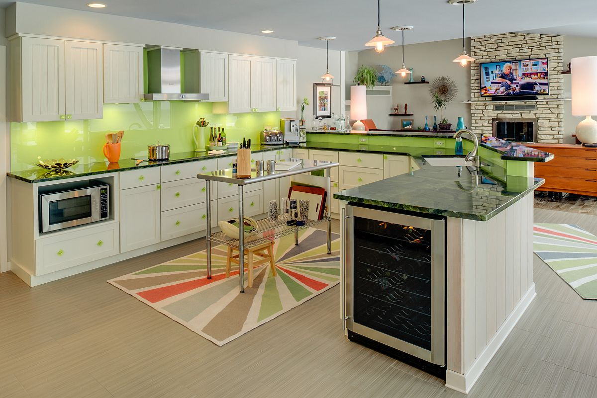 Find the right open cart style kitchen island for your modest modern kitchen