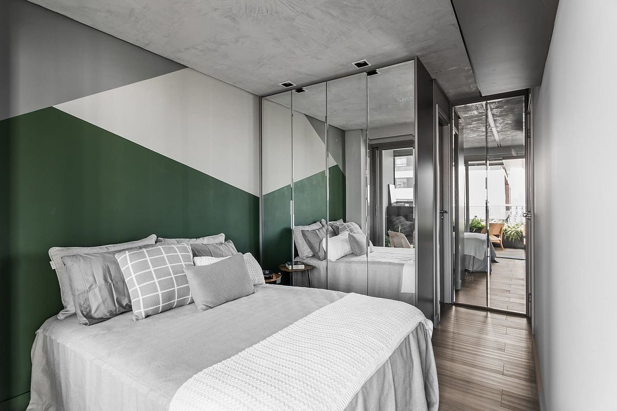 Gray-white-and-dark-green-blocks-bring-colorful-geo-style-to-the-small-bedroom-63597