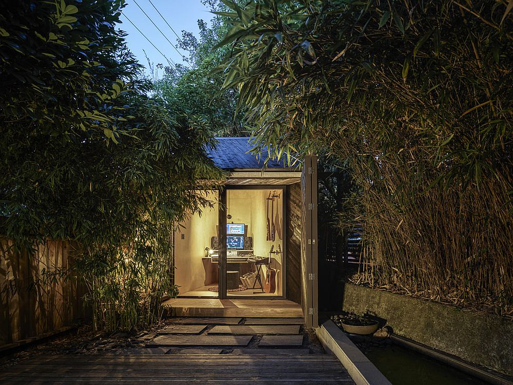 Lovely little music studio in the backyard crafted in just 50-square feet of space