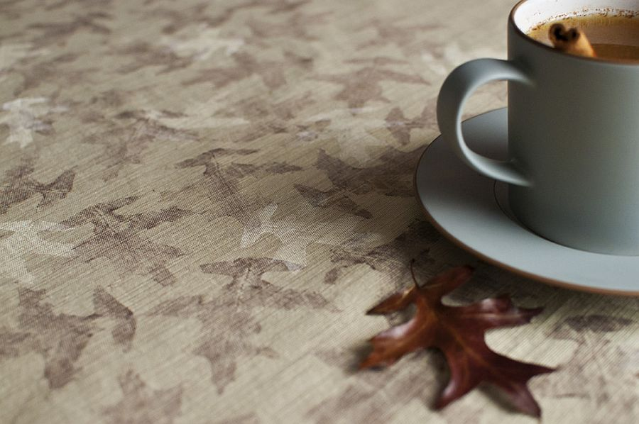 Make your own beautiful leaf printed linens at home