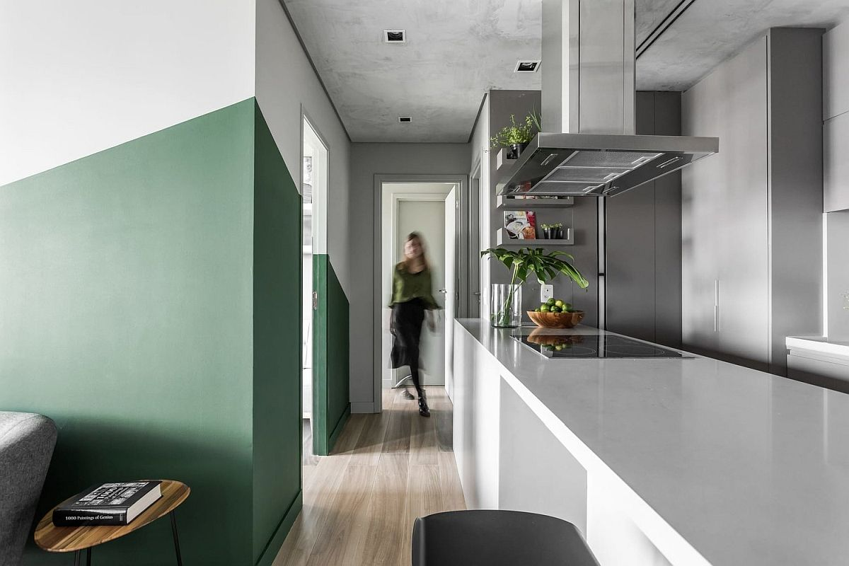 Modern Brooklin Apartment designed by Talita Nogueira Arquitetura in Sao Paulo