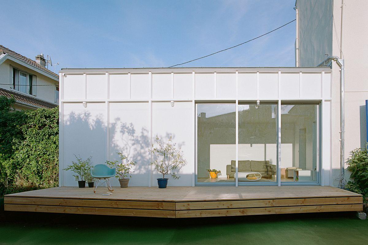 Modern Neui House Extension designed by Benoit Rotteleur Architecte in Paris