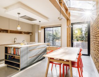 Nifty Victorian Home Addition: Oak, Concrete, Exposed Brick and a Whole Lot of Glass