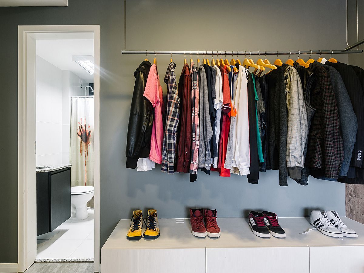 Open closet design that is easy to create at home