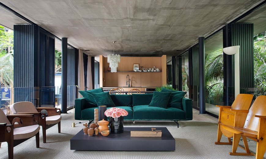 Raw Concrete and Natural Wood Create Exquisite Urban Refuge in Rio