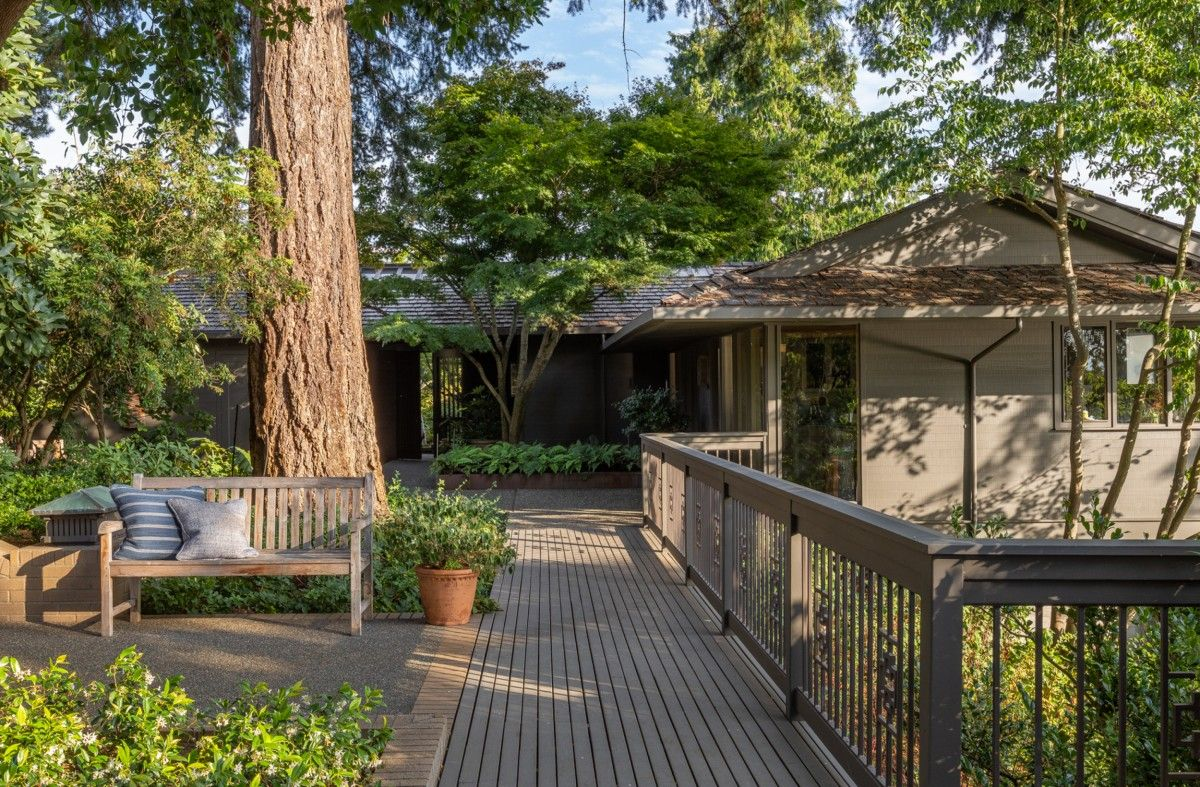Patios and decks have been extended to create serene and nature-filled outdoor getaways