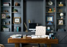 Polished-contemporary-home-office-in-gray-with-cutsom-wooden-desk-58722-217x155