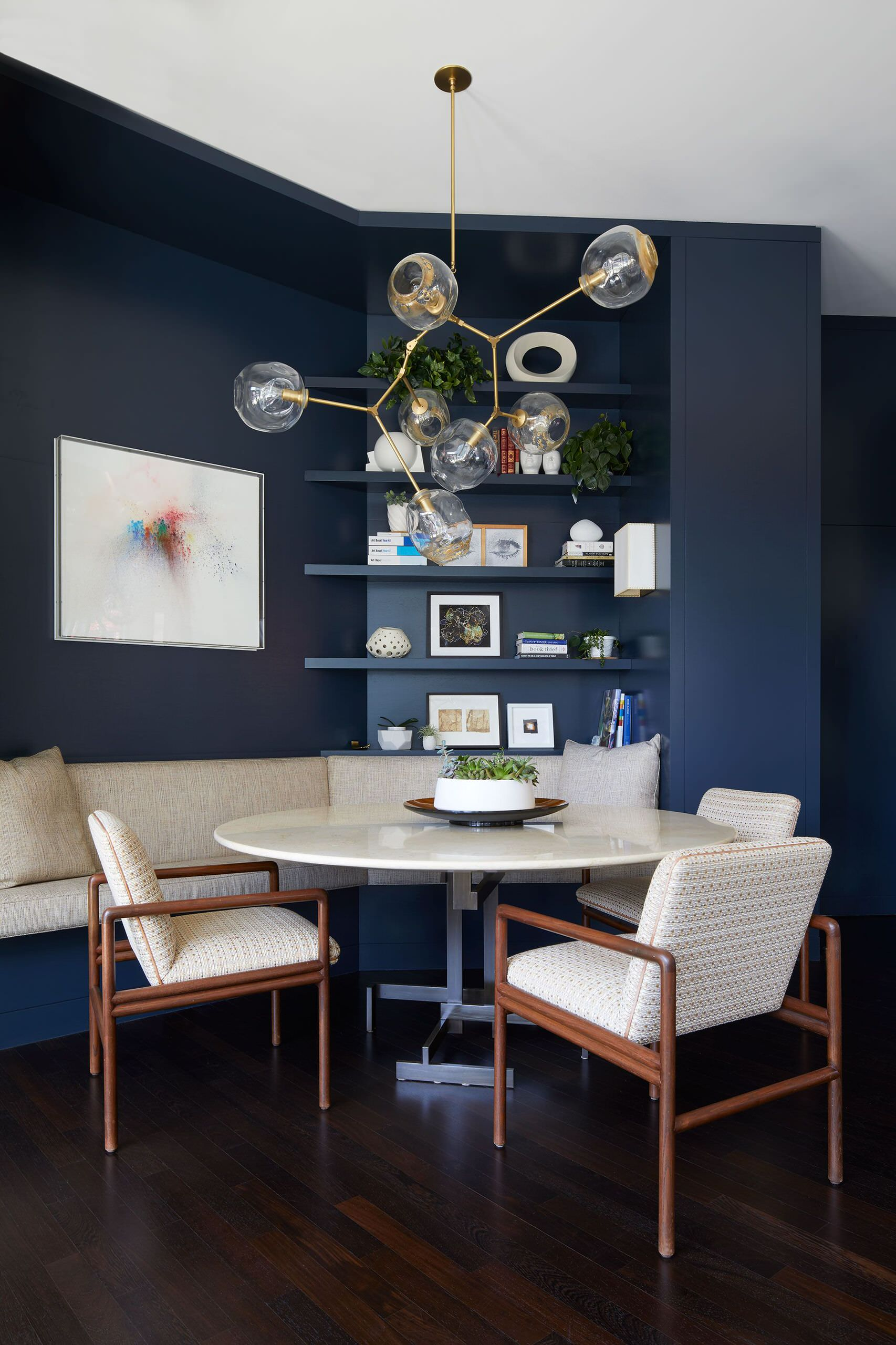 Polished-small-dining-room-of-Tribeca-home-with-a-gorgeous-gray-backdrop-20965