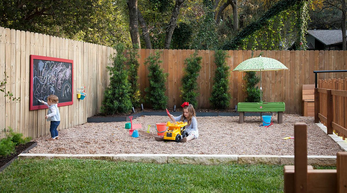 Safe and fun backyard play zone idea