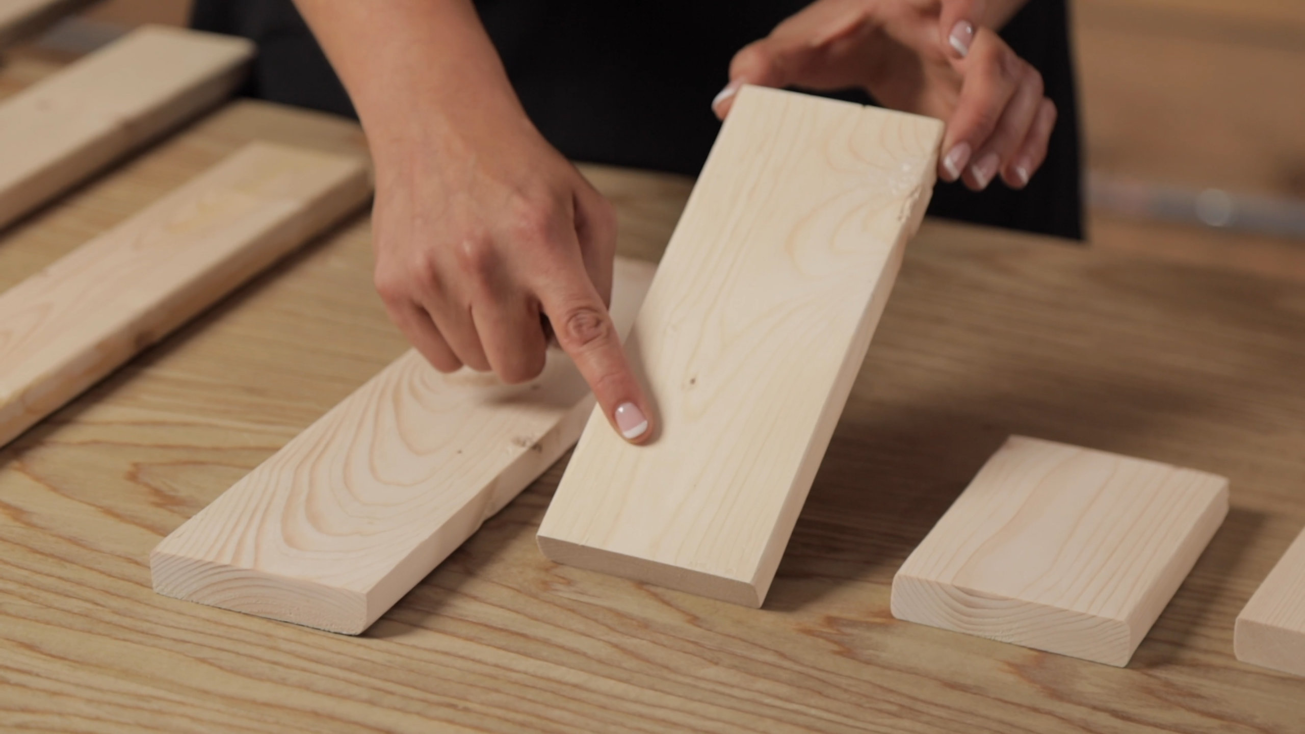 Get a wood with a smooth finish for the boxes