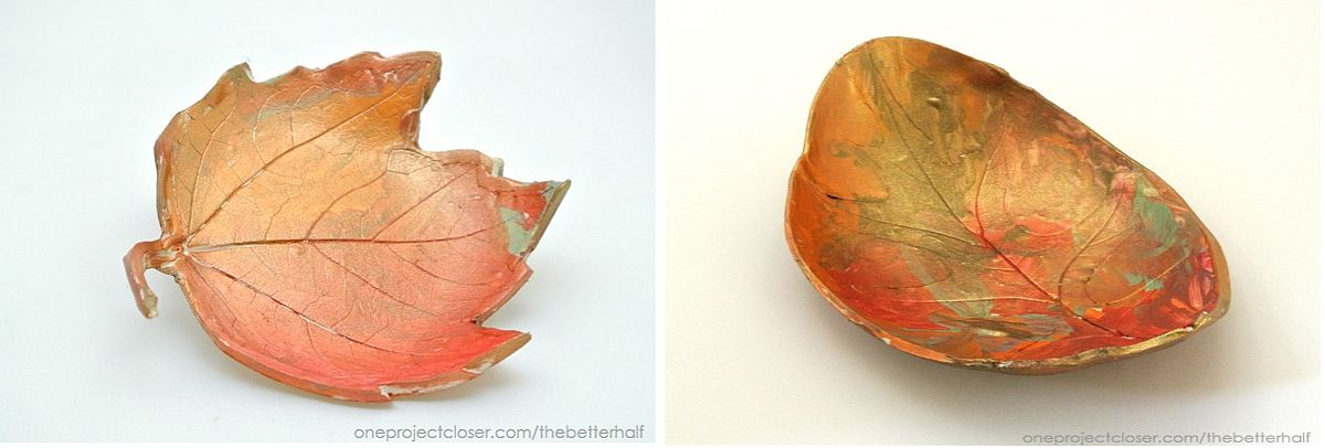 Simple DIY Clay Leaf Bowls that perfectly epitomize the spirit of fall