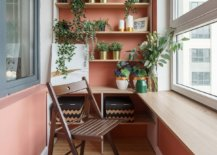 Small-contemporary-sunroom-of-Russian-home-with-pink-walls-and-a-smart-stand-to-hold-potted-plants-58155-217x155