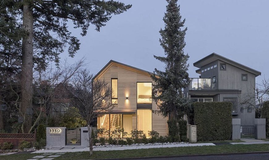 Three-Level Modern Family Home in Vancouver with a Cozy Wooden Exterior