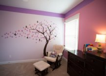 Transitional-nursery-combines-pink-and-violet-with-a-beautiful-tree-decal-91939-217x155