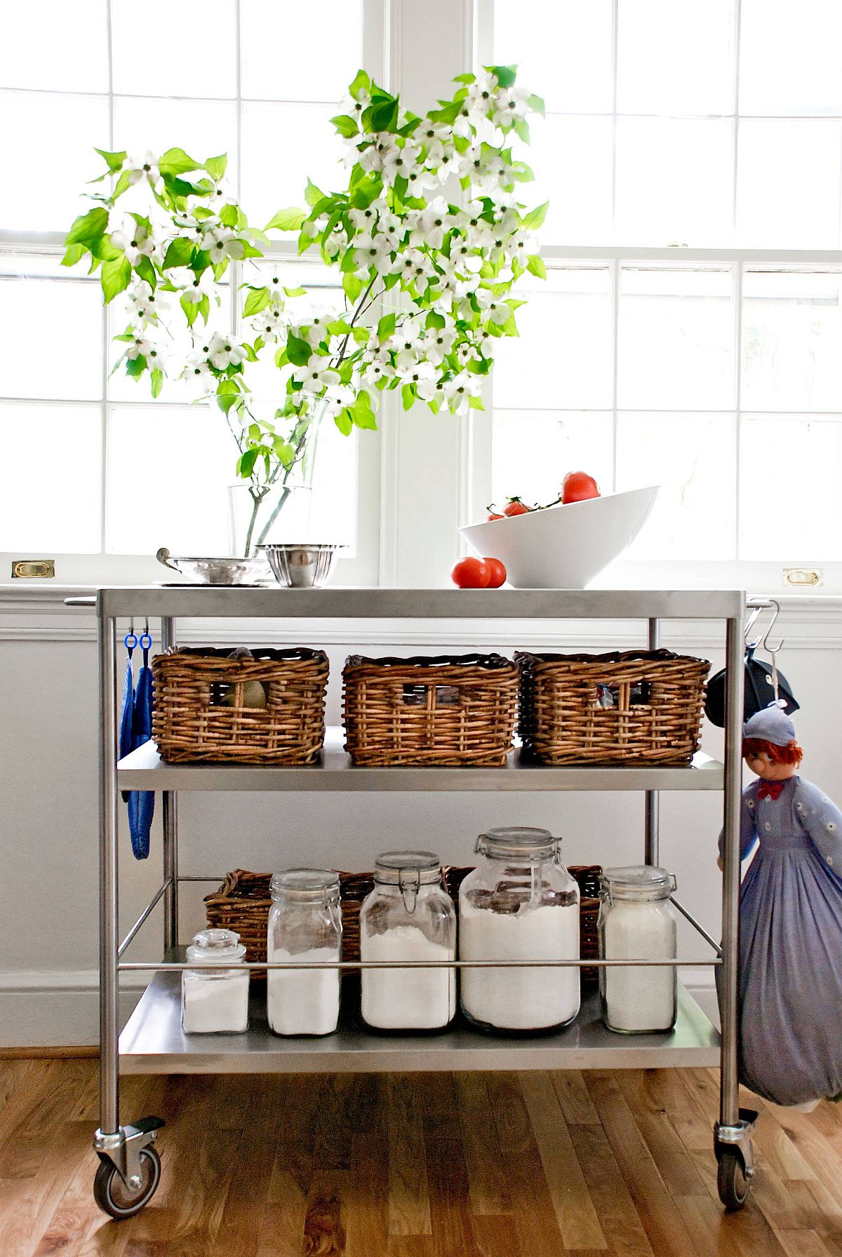 Turn that dashing bar cart into a smart island that is adaptable